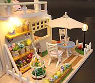 Подарок девочке DIY miniature House интерьерный 3D-конструктор РУМБОКС Pink Loft + LED подсветка, фото 9