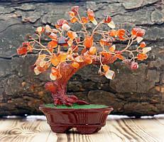 """9290056 Дерево """"Счастья"""" с камнями Сердолик"""