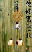 9240104 Подвеска символ Фен Шуй + 3 литых колокольчика №8