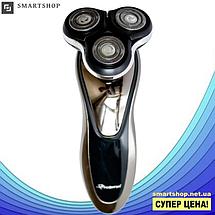 Электробритва Gemei GM-7719 - профессиональная, беспроводная, мощная мужская бритва с плавающими головками, фото 3