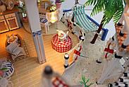 Мальчику, взрослому DIY miniature House интерьерный 3D-конструктор LEGEND OF SEA + LED подсветка, фото 4