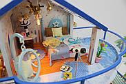 Мальчику, взрослому DIY miniature House интерьерный 3D-конструктор LEGEND OF SEA + LED подсветка, фото 8