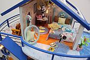 Мальчику, взрослому DIY miniature House интерьерный 3D-конструктор LEGEND OF SEA + LED подсветка, фото 9