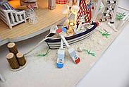Мальчику, взрослому DIY miniature House интерьерный 3D-конструктор LEGEND OF SEA + LED подсветка, фото 10
