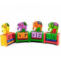"""Календарь настольный """"Слон"""" дерево 10х7,5х4 см 29431G"""