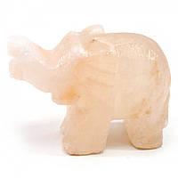 Слон резной из соли Гималайская соль 10,5х8х4,5 см 30641
