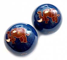 9290010 Массажные шары Баодинга в эмали Слоник