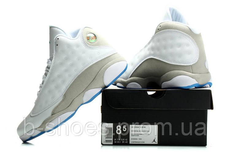 Мужские кроссовки Air Jordan Retro 13 (White/Blue)