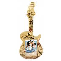 """Фоторамка """"Гитара"""" фото 12х8 см гитара 40х17х1 см 29726"""