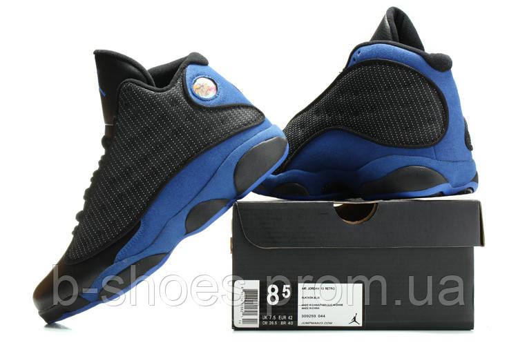 Мужские кроссовки Air Jordan Retro 13 (Black/Blue)