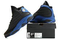 Мужские кроссовки Air Jordan Retro 13 (Black/Blue), фото 1