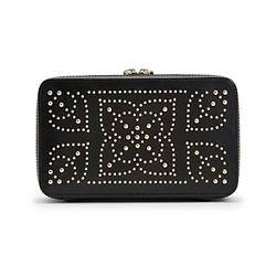 Шкатулки для украшений Wolf 308602 Marrakesh Zip Case Black