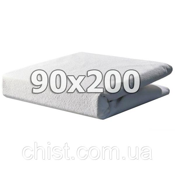 Непромокаемый махровый наматрасник с бортами - 90х200
