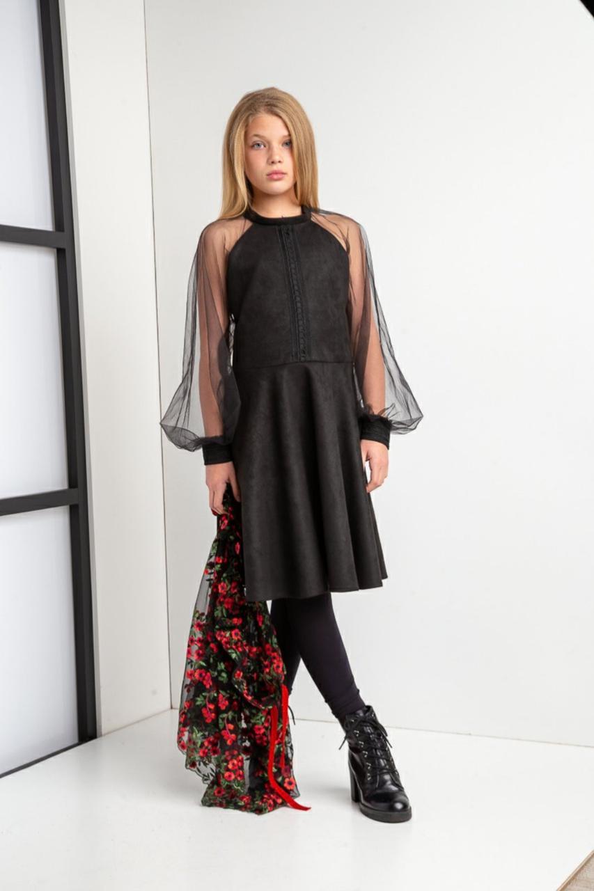 Платье черно-красного цвета Тальяна для девочки, Madlen