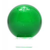 Шар хрустальный на подставке зеленый 6см 28726