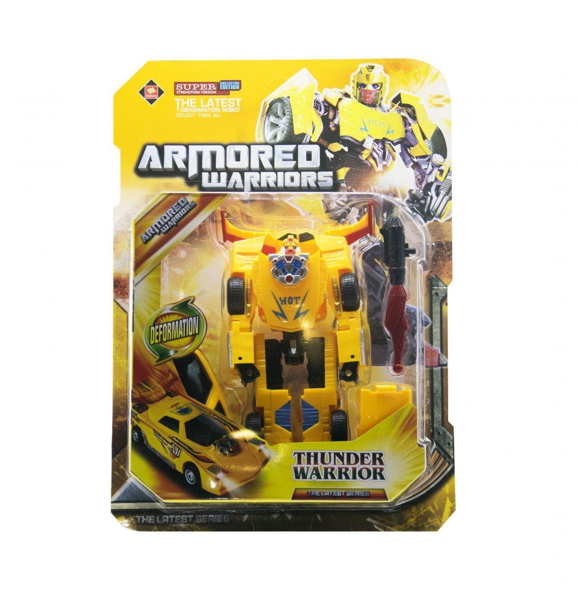 "Робот трансформер ""Thunder Warrior"" (жёлтый) 8001"