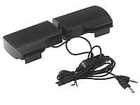 Стерео-колонки USB для ноутбука или ПК Soundbar на прищепках-клипсах