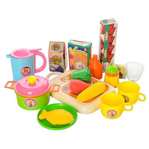 Посуда 9953 (48шт) с продуктами, в рюкзаке