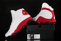 Мужские кроссовки Air Jordan Retro 13 (White/Red/Black), фото 1