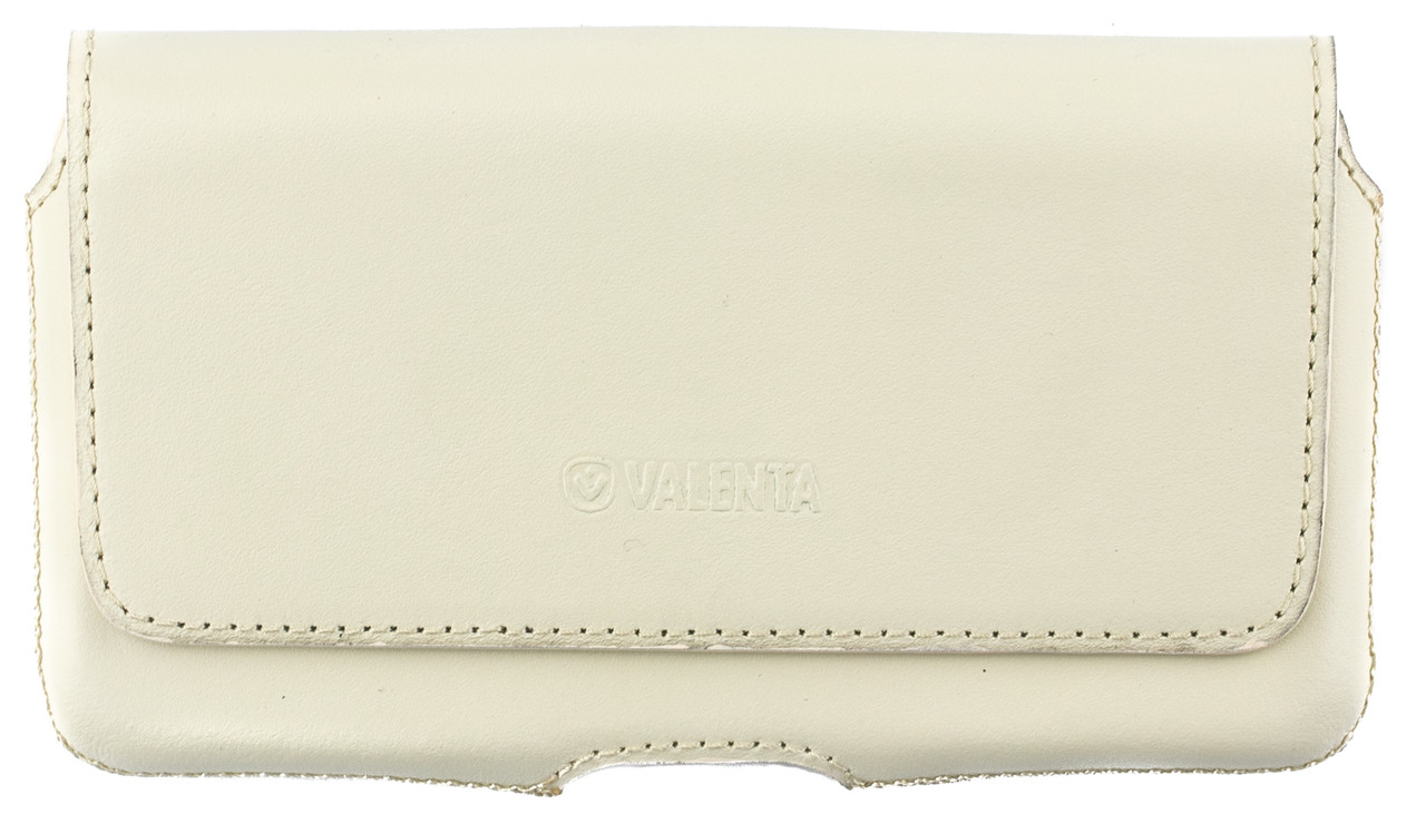Кожаный футляр на пояс для смартфонов 5,5-6 дюймов Светло-бежевый (С-918/Note св.беж.)