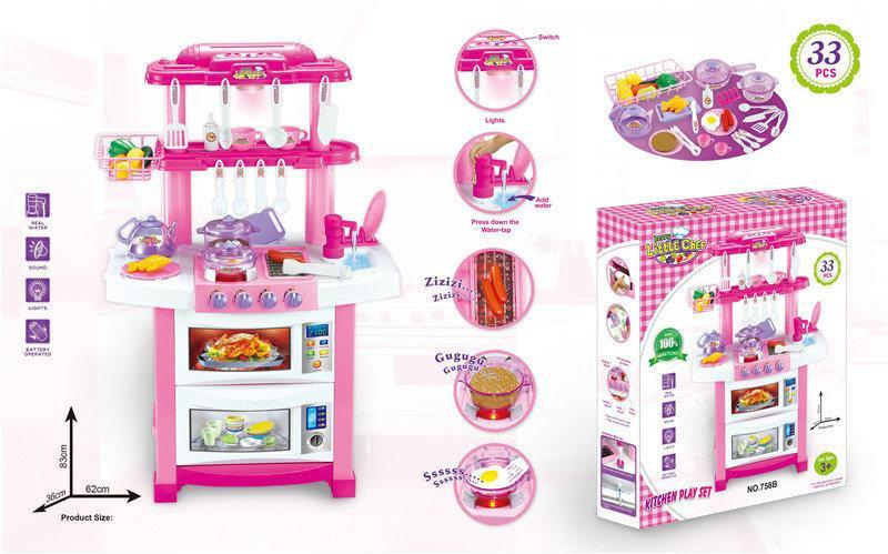 Игровой набор кухня с краном с подсветкой и звуком HC163954