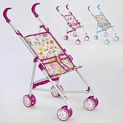 Детская игрушечная коляска для кукол (886 АВ / 448230) железная, зонтик