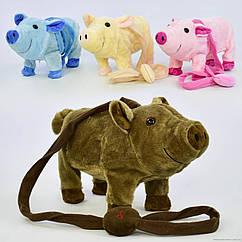 Детская мягкая игрушка Свинка (М 03048) музыкальная