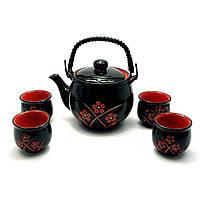 Сервиз керамический чайник ,4 пиалы чайник 700 мл пиала 50 мл 28х17х12 28013