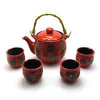 Сервиз керамический чайник ,4 пиалы чайник 700 мл пиала 50 мл 28х17х11,5 см 28014
