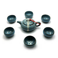 Сервиз керамический Чайник - 200мл., чашка - 60мл. 32,5х24х8,5 см 28146