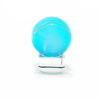 Шар хрустальный на подставке голубой 4 см 32371