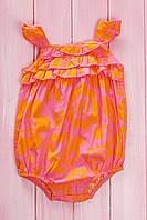 Песочник для девочки, хлопок Carter's 62(см) Розовый-Жёлтый (56023)