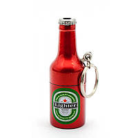"Зажигалка газовая - брелок ""Бутылка Пива"" 6х2,5х2,5 см 29498"
