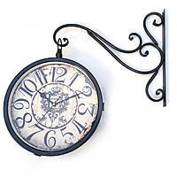 Часы станционные двухсторонние d-30 см 50х55х9 см 32177