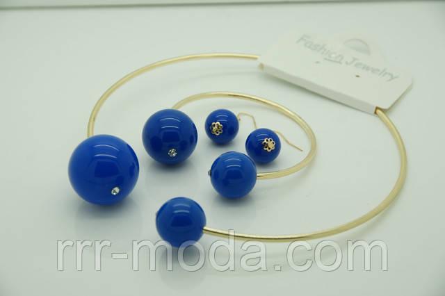 Модные комплекты женских украшений с колье под Диор + сережки и браслеты оптом.