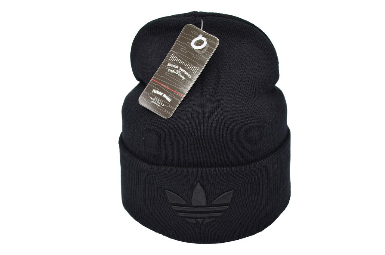Шапка Flexfit Adidas 53-57 см Чёрная (F-09118-53)