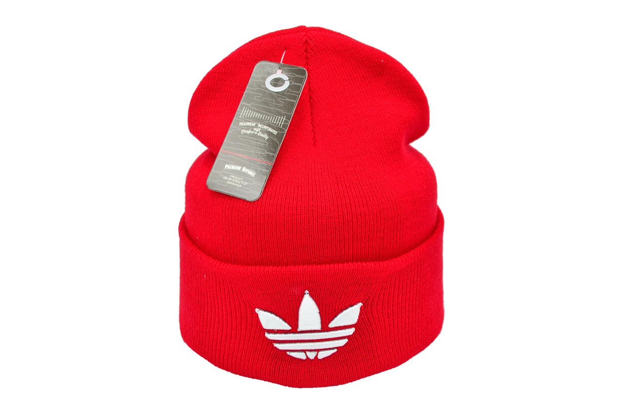 Шапка Flexfit Adidas 53-57 см Красная (F-09118-55)