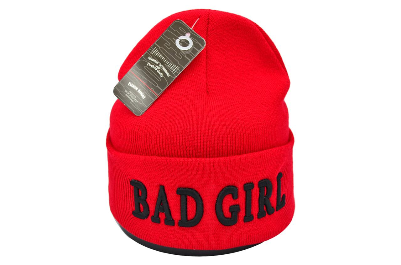 Шапка Flexfit Bad Girl 53-57 см Красная (F-09118-59)