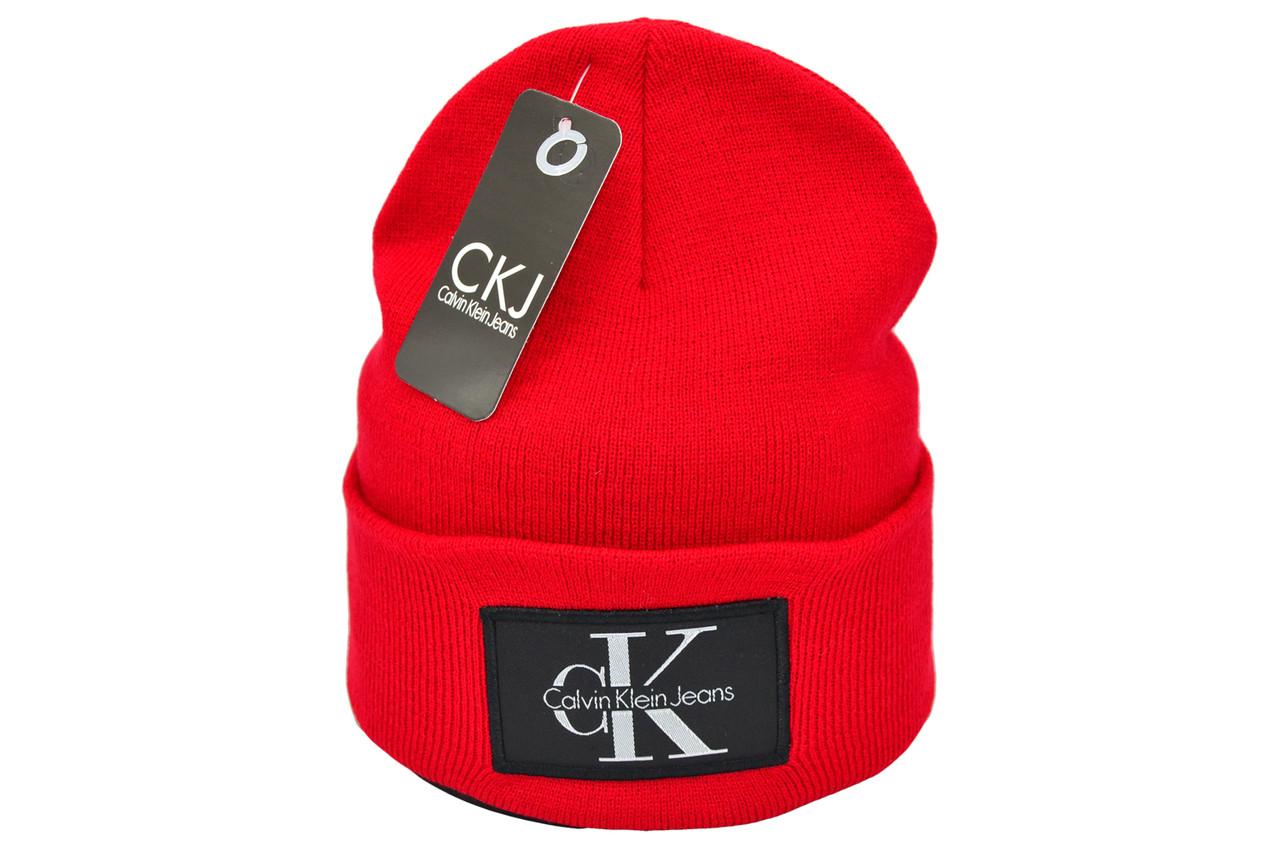 Шапка Flexfit Calvin Klein 53-57 см Червона (F-09118-61)
