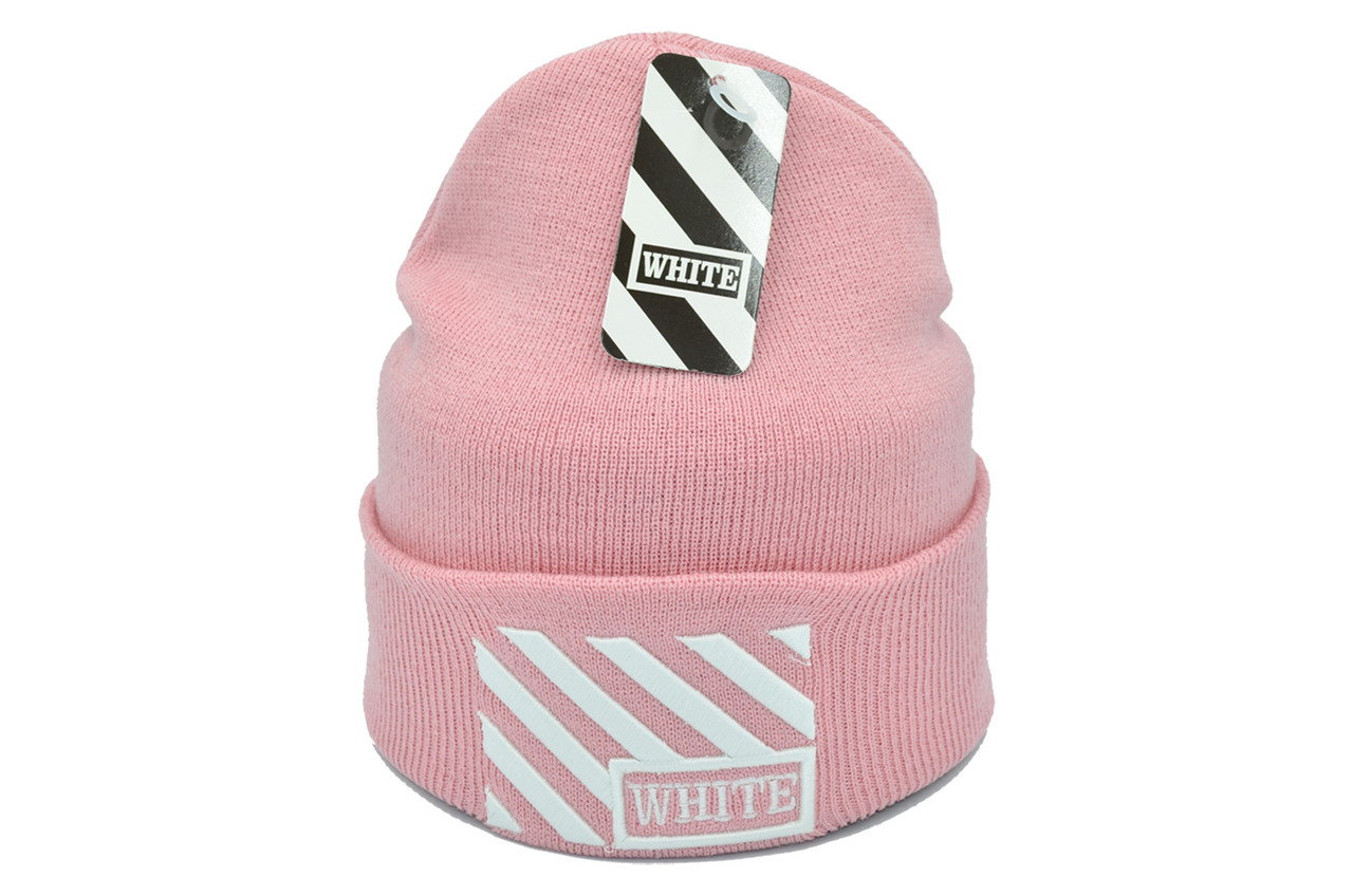 Шапка Flexfit Off-White 53-57 см Розовая (F-09118-91)