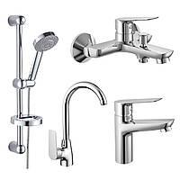 Набор смесителей для ванны и кухни Imprese kit30092