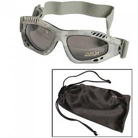 Очки маска Mil-Tec Commando Goggles Air Pro Smoke ACU