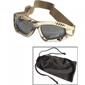 Очки маска Mil-Tec Commando Goggles Air Pro Smoke 3 Color Desert