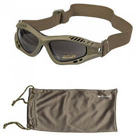 Очки маска Mil-Tec Commando Goggles Air Pro Smoke олива