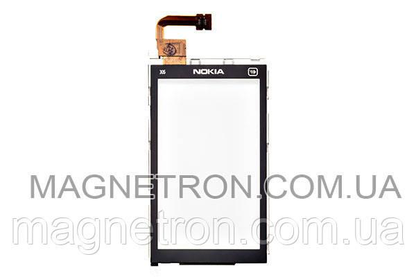 Сенсорный экран с передним корпусом для телефона Nokia X6-00, фото 2