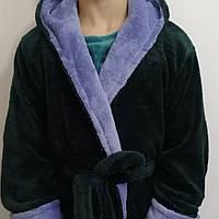 Мужские халаты на запах с капюшоном длинные. Турция