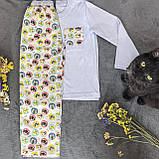 Детская фланелевая пижама с кофтой Котики 128, фото 2