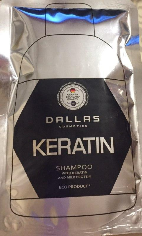 """Шампунь Dallas """"Keratin"""" с кератином и молочным протеином (70г.)"""