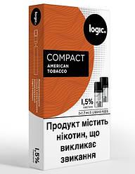 Картриджи Logic Compact American Tobacco 1,5%, 2 шт