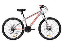 """Горный велосипед AL 26"""" Formula THOR 1.0 AM DD 2020 (серебристо-черный с красным)"""